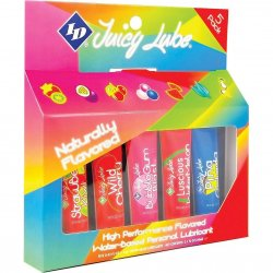 ID Juicy Lube - Naturally Flavored Sampler - 5 Pack Sex Toy