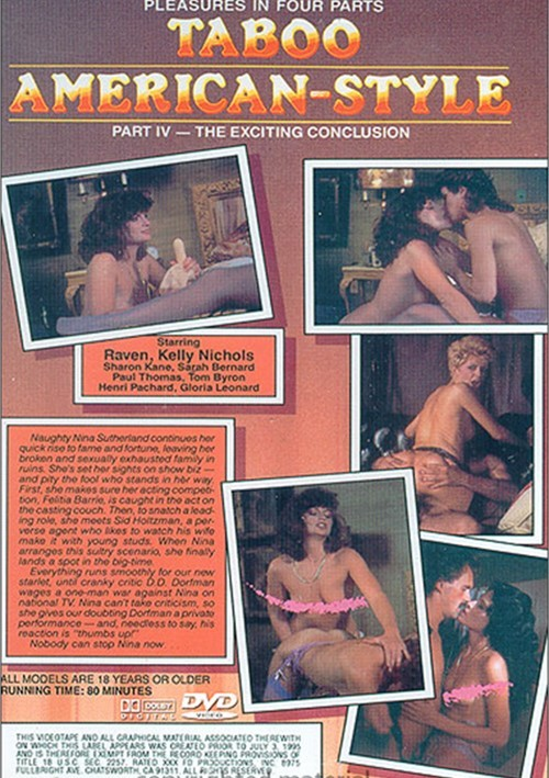 Back cover of Taboo American Style 4: The Exciting Conclusion