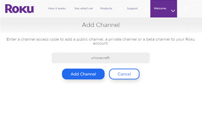 Whorecraft HD Roku Channel Image