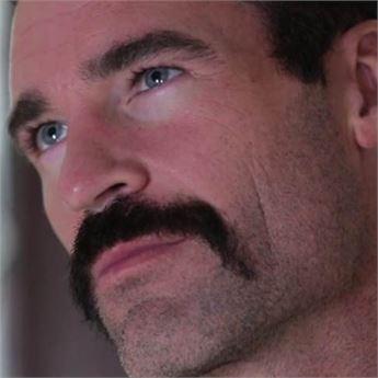 Pornstar Charles Dera and his mustache.